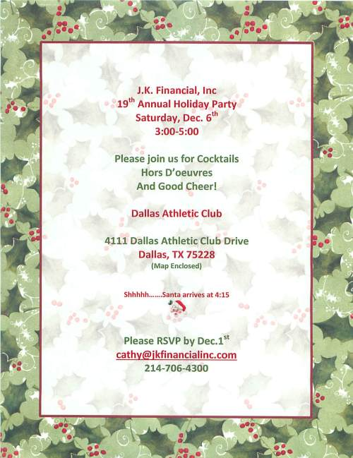 2014 JK Holiday Invitation