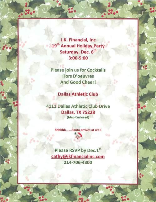 2014 JK Holiday Invitation