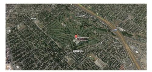 Dallas Athletic Club, Club View Circle, Dallas, TX - Google Maps Cropped