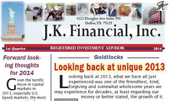 j k financial newsletter treet ents