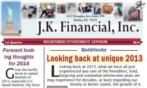 Q 1 2014 JK Financial Newsletter header