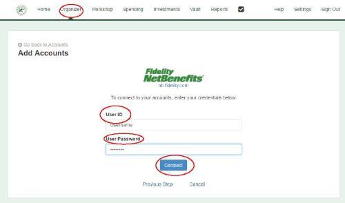 Username Password enter screen