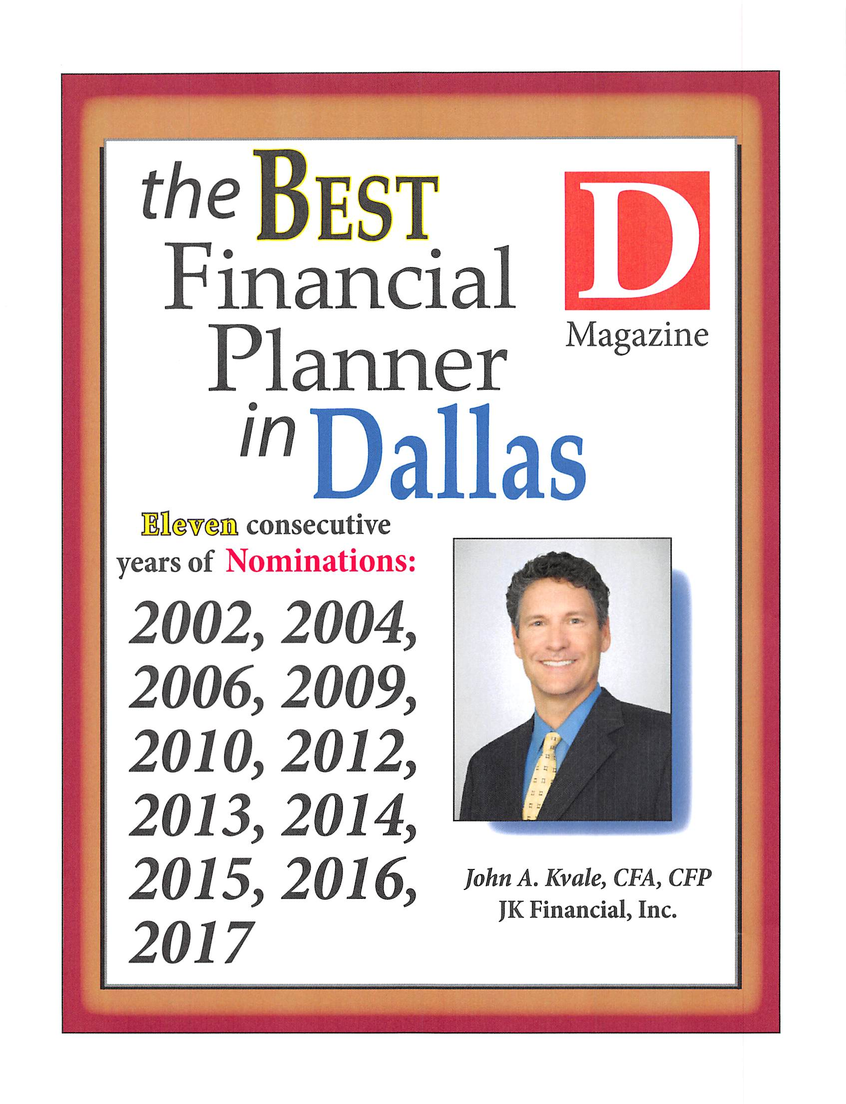 2017 D Mag Best Financial Planner