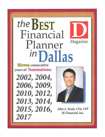 2017 D Mag Best Financial Planner