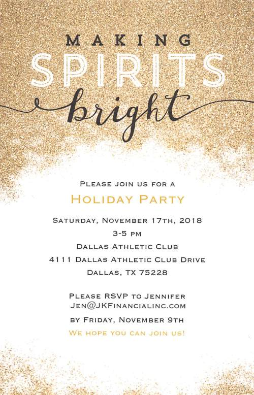10-9-18 - Holiday Party Invitation