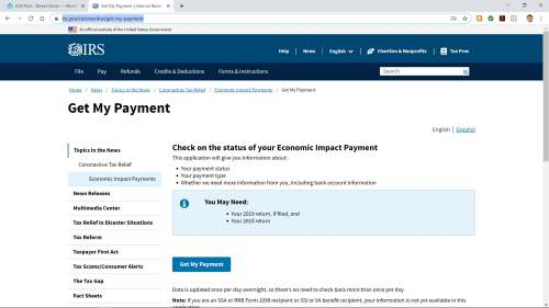 IRS Recovery Rebate Site